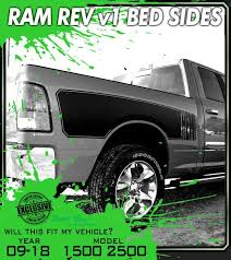 Bed Stripes Rev 1 2009 2018 Dodge Ram 1500 Truck Bed Band Hemi Stripes Side Body Graphics Decals 3m Vinyl Decal Kit Truck Decals Custom Graphics For Muscle Cars Elite Limit