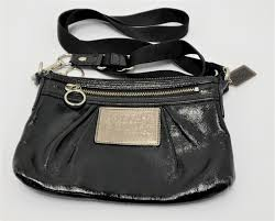 patent leather coach cross bag