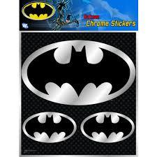 Hotstuff Batman Logo Chrome Sticker Autobarn