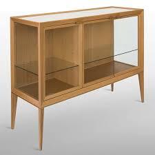 mayda oak low glass luxury display