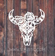 Cow Skull Decal Car Decal Yeti Decal Skull Decal Yeti Decals Bull Head Decor