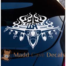 Air Force Flamin Jet Military Decal