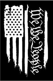 White Vinyl Decal We The People Flag American Patriotic Truck Country Sticker American Country Decal Vinyl Decals Vinyl Window Decals Car Bumper Stickers