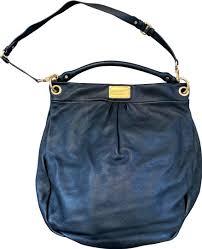 q hillier black leather hobo bag tradesy