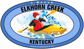 Localwaters Elkhorn Creek Kentucky Kayak Sticker Decal Localwaters
