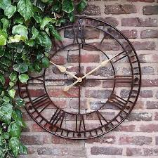 details about garden wall clock large