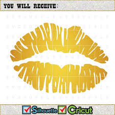 Gold Lips Svg Cut File Vinyl Decal For Silhouette Cameo Cricut Etsy