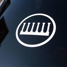 White Vinyl Logo Decal Every True Son Apparel