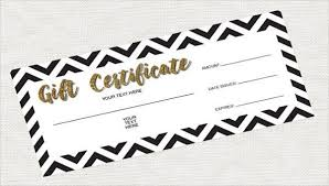 gift certificate templates doc pdf
