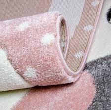 Kids Pink Rug Nursery Mat Thick Soft Animals Children Bedroom Carpet G Xrugs