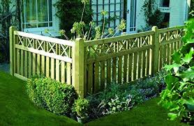 Ruby 6ft X 3ft 1 8m X 0 9m Elite Cross Top Fence Panel Amazon Co Uk Garden Outdoors