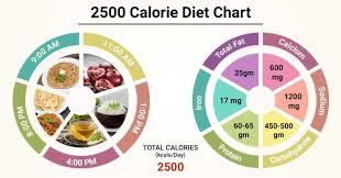 Diet Chart For 2500 calorie Patient, 2500 Calorie Diet chart ...