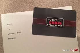 ruth chris gift card 150 value image