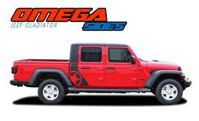 Jeep Gladiator Side Decals Jeep Gladiator Body Stripes Omega Sides