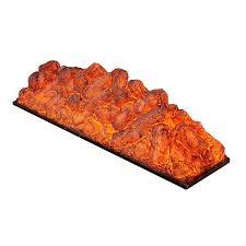 polymers made wood log ember led