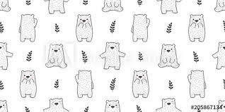 bear seamless pattern polar bear panda