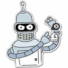 Futurama Bender Vynil Car Sticker Decal 5 Ebay