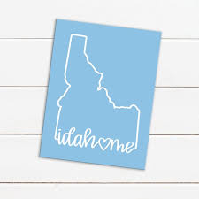 Idahome Idaho Hand Lettered Decal Vinyl Decal Custom Decal Car Decals Water Bottles Cups Tumblers Laptops Notebooks Etc By Shantel Cook Designs Catch My Party