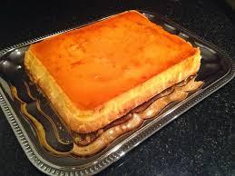 custard cake leche flan chiffon cake