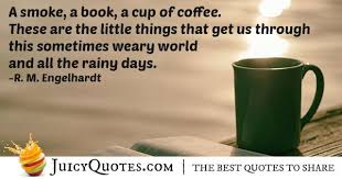 smokes books and coffee quote picture