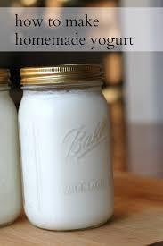 how to make homemade yogurt the