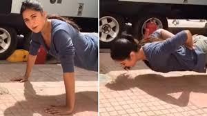 when katrina kaif did push ups without