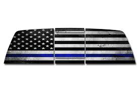 Toyota Tundra Rear Window Decals Thin Blue Line Racerx Customs Truck Graphics Grilles And Accessories