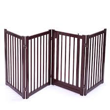 30 Wood Construction Pet Fence Gate Free Standing Dog Gate Indoor Sol Sandinrayli5
