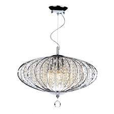 ceiling pendant in chrome with glass