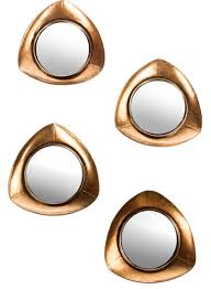 becky large gold mirrors set of 4