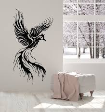 Vinyl Wall Decal Phoenix Fly Bird Fantasy Fairytale Kids Room Stickers Wallstickers4you