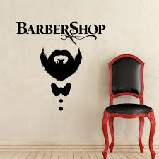 Barber Shop Wall Decal Hairdressing Salon Vinyl Sticker Decals Beauty Haircut Men Mustache Scissors Window Art Decor Mural Wall Designs Stickers Wall Graphic From Joystickers 12 66 Dhgate Com