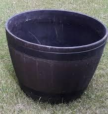 2 wine barrel plant pots b q in