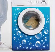 Washing Machine Bubbles Appliance Stickers Tenstickers
