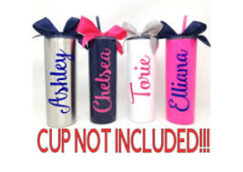 Personalized Name Custom Vinyl Decal For Your Tumbler Water Bottle Cup Sticker Ebay