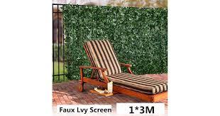 Expanding 1 3m Artificial Fake Lvy Leaf Wall Fence Green Garden Screen Hedge Typy B 3 3 39 X10 39 Matt Blatt