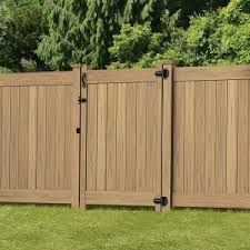Veranda Linden 6 Ft H X 8 Ft W Cypress Vinyl Privacy Fence Panel Kit 73014524 The Home Depot Vinyl Privacy Fence Privacy Fence Designs Privacy Fence Panels
