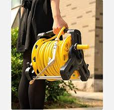 hose reel with hose wall mounted