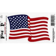 Usa Waving Flag Decal For Auto Truck Or Boat 3 25 X 5 High Gloss Uv Coated Laminate Water Proof Sticker Decal Walmart Com Walmart Com