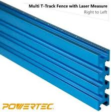 Powertec 3 X 24 Multi T Track Fence With Laser Measure Right To Left Aluminum Ebay