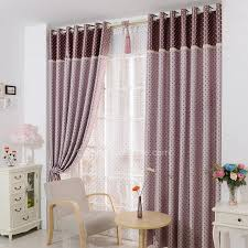 Double Side Polka Dot Pattern Thick Purple Kids Room Curtains