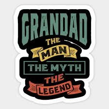 mens grandad the legend grandpa gift