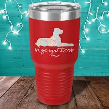 Size Matters Great Dane Color Printed Tumbler Piper Lou Collection