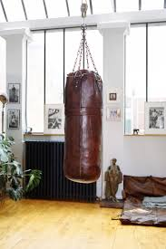 leather boxing gym training punch bag