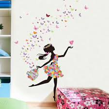Cute Diy Lovely Girl Art Wall Stickers For Kids Rooms Pvc Wall Decals Home Decor Girls Wall Stickers Wall Stickers Bedroom Girls Wall Decals