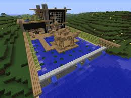 Japanese Modern On The River Minecraft Map