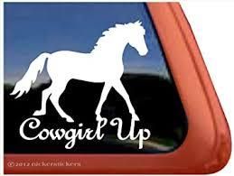 Amazon Com Cowgirl Up Fox Trotter Horse Trailer Vinyl Window Decal Sticker Automotive