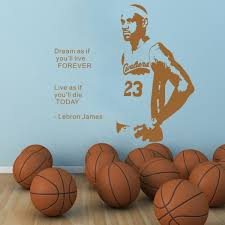 Yoyoyu Lebron James Wall Decal Quote Poster Gift Vinyl Sticker Basketball Decor Nba Mvp Sport Wall Stickers Smart And Strong New Wall Decals