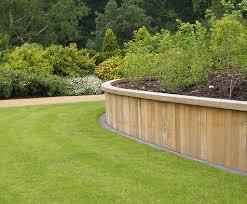 hardwood retaining wall system