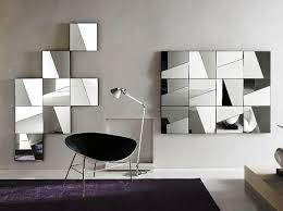 foyer with contemporary wall mirrors